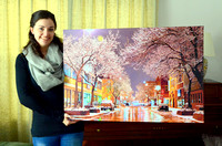 "Here's what a 36"" x 24"" canvas of the downtown photo looks like. Sells for $149+tax"